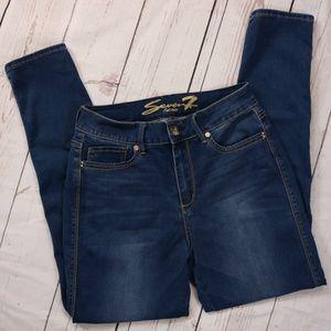 Seven7 High-Rise Skinny Denim Stretch Jeans